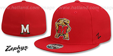 Maryland SLIDER Red Fitted Hat by Zephyr