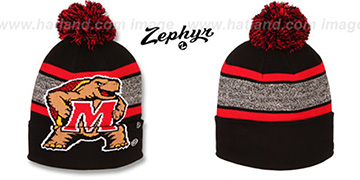 Maryland SPLIT BIGGIE LOGO Knit Beanie Hat by Zephyr