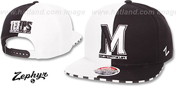 Maryland SPLIT DECISION SNAPBACK Black-White Hat by Zephyr