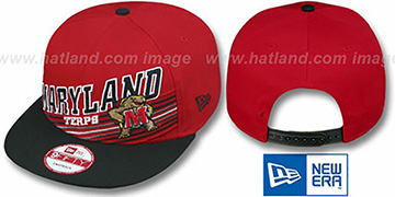 Maryland 'STILL ANGLIN SNAPBACK' Red-Black Hat by New Era