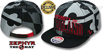 Maryland SUPER-FLAG SNAPBACK Black-Grey-Red Hat by Zephyr