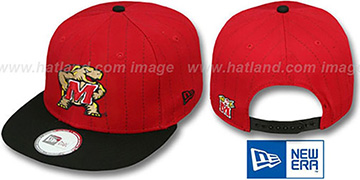 Maryland 'TEAM-BASIC PINSTRIPE SNAPBACK' Red-Black Hat by New Era