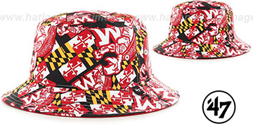Maryland THROWBACK BRAVADO BUCKET Black Hat by Twins 47 Brand