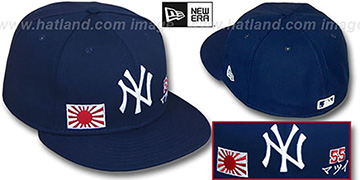 Matsui TRIPLE THREAT Navy Fitted Hat by New Era