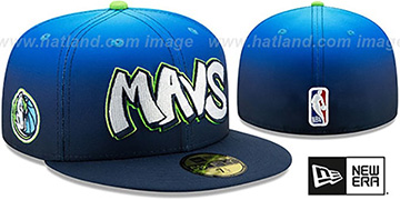 Mavericks 19-20 CITY-SERIES Blue Fade-Navy Fitted Hat by New Era