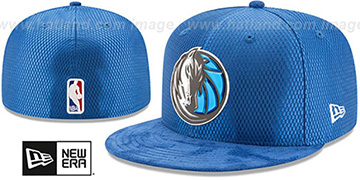 Mavericks 2017 ONCOURT DRAFT Royal Fitted Hat by New Era