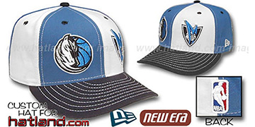 Mavericks DOUBLE WHAMMY Blue-White Fitted Hat