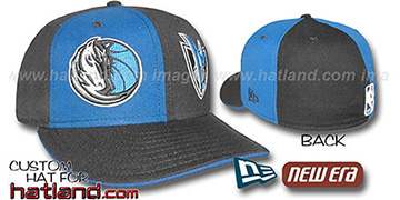 Mavericks 'DOUBLE WHAMMY' Royal-Black Fitted Hat