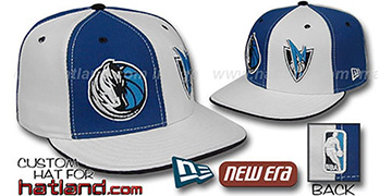 Mavericks 'DOUBLE WHAMMY' Royal-White Fitted Hat