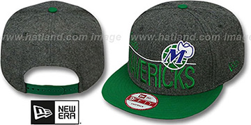 Mavericks 'FLANNEL SNAPBACK' Grey-Green Hat by New Era