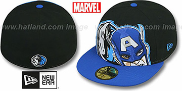 Mavericks 'HERO-HCL' Black-Royal Fitted Hat by New Era