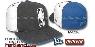 Mavericks LOGOMAN Black-White-Royal Fitted Hat by New Era