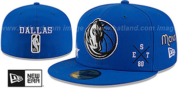 Mavericks MULTI-AROUND Royal Fitted Hat by New Era