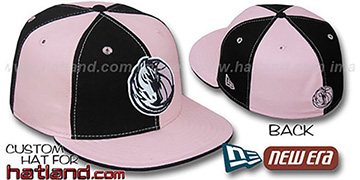 Mavericks PINWHEEL Black-Pink Fitted Hat by New Era