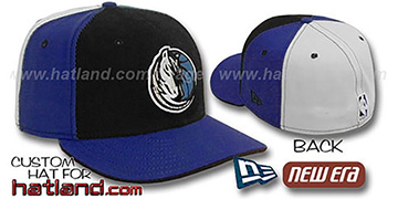 Mavericks 'PINWHEEL' Black-Royal-White Fitted Hat
