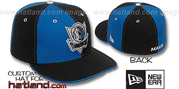 Mavericks 'PINWHEEL' Royal-Black Fitted Hat