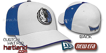 Mavericks PINWHEEL White-Royal Fitted Hat by New Era
