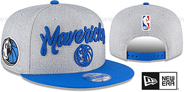 Mavericks ROPE STITCH DRAFT SNAPBACK Grey-Royal Hat by New Era