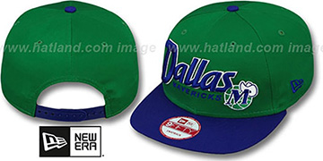 Mavericks 'SNAP-IT-BACK SNAPBACK' Green-Royal Hat by New Era