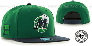 Mavericks SURE-SHOT SNAPBACK Green-Navy Hat by Twins 47 Brand