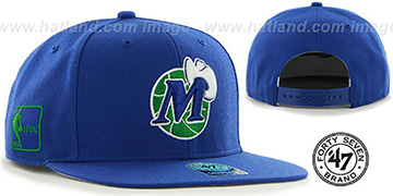 Mavericks SURE-SHOT SNAPBACK Royal Hat by Twins 47 Brand