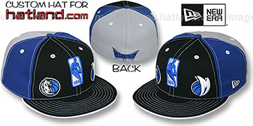 Mavericks TRIPLE THREAT Black-Royal-Grey Fitted Hat by New Era