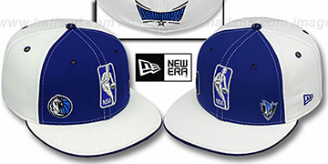 Mavericks TRIPLE THREAT Royal-White Fitted Hat by New Era