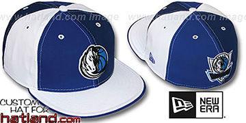 Mavericks TWO BIG PINWHEEL Royal-Navy-White Fitted Hat