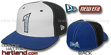 McGrady PINWHEEL White-Black-Royal Fitted Hat by New Era