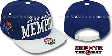Memphis '2T SUPER-ARCH SNAPBACK' Royal-White Hat by Zephyr