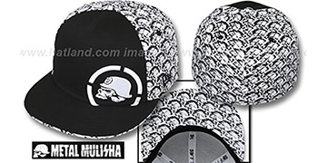 Metal Mulisha 'SCALES' Black-White Fitted Hat by New Era