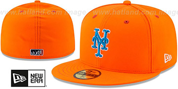 Mets '2017 MLB LITTLE-LEAGUE' Orange Fitted Hat by New Era