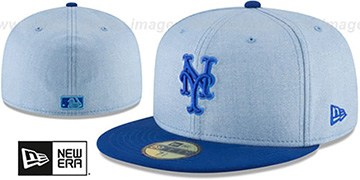 Mets 2018 FATHERS DAY Sky-Royal Fitted Hat by New Era