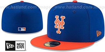 Mets '2018 PROLIGHT-BP' Royal-Orange Fitted Hat by New Era