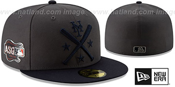 Mets 2019 MLB ALL-STAR WORKOUT Grey-Navy Fitted Hat by New Era