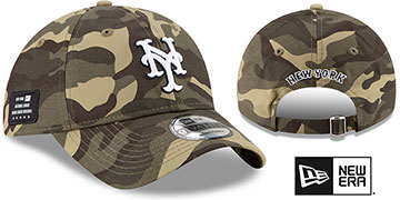 Mets 2021 ARMED FORCES STARS N STRIPES STRAPBACK Hat by New Era