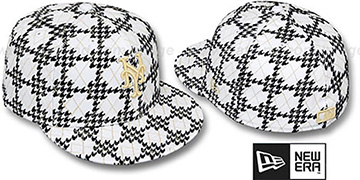 Mets 'A-TOOTH' White-Black Fitted Hat by New Era
