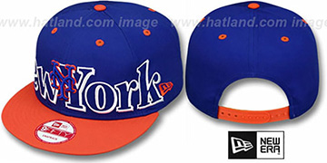 Mets BIG CITY PUNCH SNAPBACK Royal-Orange Hat by New Era