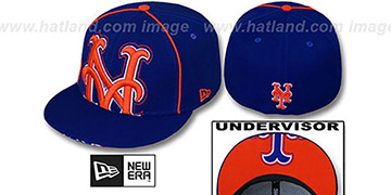 Mets BIG-UNDER Royal Fitted Hat by New Era
