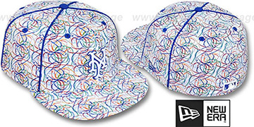 Mets BRUSHED-ART White-Multi Fitted Hat by New Era