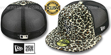 Mets CHEETAH ANIMAL-FUR MESH-BACK Fitted Hat by New Era