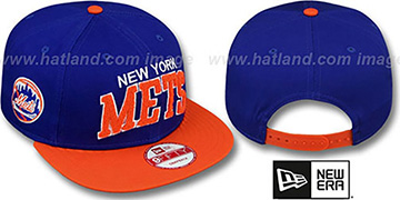 Mets 'CHENILLE-ARCH SNAPBACK' Royal-Orange Hat by New Era