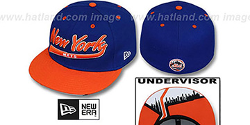 Mets CITY-SCRIPT Royal-Orange Fitted Hat by New Era