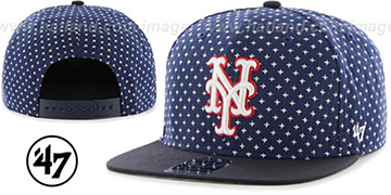 Mets 'CROSSBREED SNAPBACK' Navy Hat by Twins 47 Brand