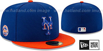 Mets DASHMARK BP Royal-Orange Fitted Hat by New Era