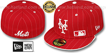 Mets 'FABULOUS' Red-White Fitted Hat by New Era