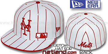 Mets FABULOUS White-Red Fitted Hat by New Era