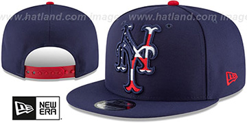 Mets FLAG FILL INSIDER SNAPBACK Navy Hat by New Era