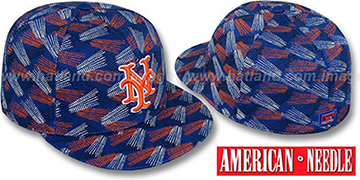 Mets FLICKER Royal Fitted Hat by American Needle