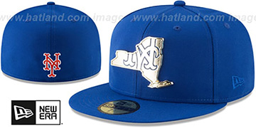 Mets 'GOLD STATED METAL-BADGE' Royal Fitted Hat by New Era